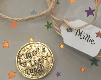 Personalised Tooth Fairy, Silver Sixpence Coin