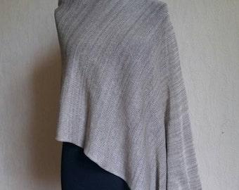 Knitted poncho, Linen cape, Beige poncho, Linen shawls, Silk linen wraps, Wedding poncho, Evening shawls wraps, Knit bolero, Summer ponchos