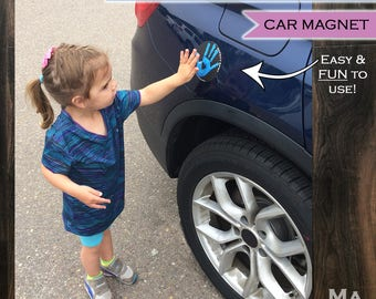 Safety Spot - Kids Hand Car Magnet/ Toddler Child Handprint Car Safety/ Kids Car Safety/ Parking Lot Safety/ Handprint Safe Spot to Stand