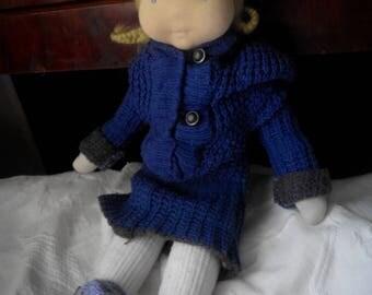 Waldorf inspired baby-doll, fiber doll