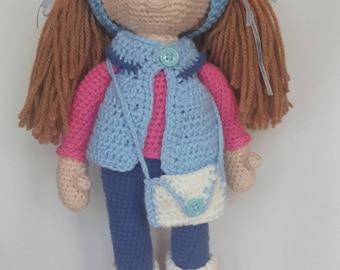 Amigurumi Girl, Crochet doll, Handmade doll
