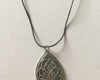 Necklace with silver pendant
