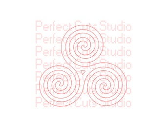 Celtic Triskelion SVG and Studio 3 Cut File for Cricut Silhoutte Brother SVGs Files Decal Decals Logo Logos Triskele Stencil Irish Cutouts