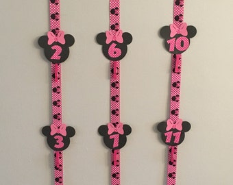 Minnie Mouse 12 month picture/photo banner