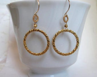 Double gold rings-Gold filled