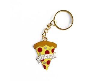 Pizza True Love Keychain