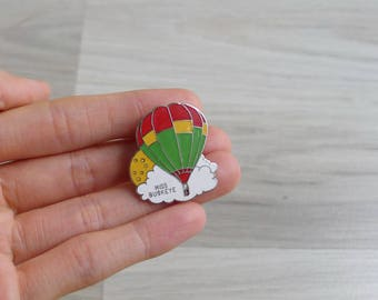 Vintage 80's 'Miss Buckeye' Hot Air Balloon Enamel Pin