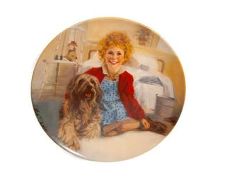 Vintage Little Orphan Annie And Sandy Collectors Plate Authentic Original Knowles Limited Edition 1982