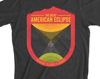 Great American Eclipse Idaho Men's Tee -- Black