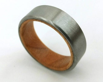 Fallen Cherry Ring, Timber Ring, Wood Ring, American Ring, American Wood, Handmade Crafts, Woodworking Ring, Different Wedding, Unique Ring