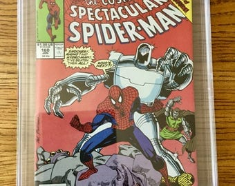 9.8 1990 SPIDER-MAN Comic Book! Cosmic Spectacular #160! Spidey! PGX Nm/Mint! White Pages! Great Gift! Marvel! Rare Vintage Collectible