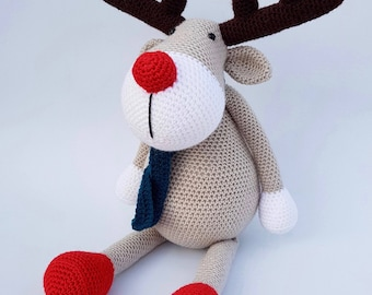 Rudolph the reindeer crocheted