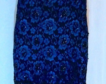 Midnight Blue Sequined Dress