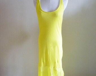 Summer Yellow Tank Top Long Dress