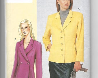 Today's Fit Vogue sewing pattern 7334 by Sandra Betzina misses sizes D E F jacket advanced difficulty 2000 FF uncut