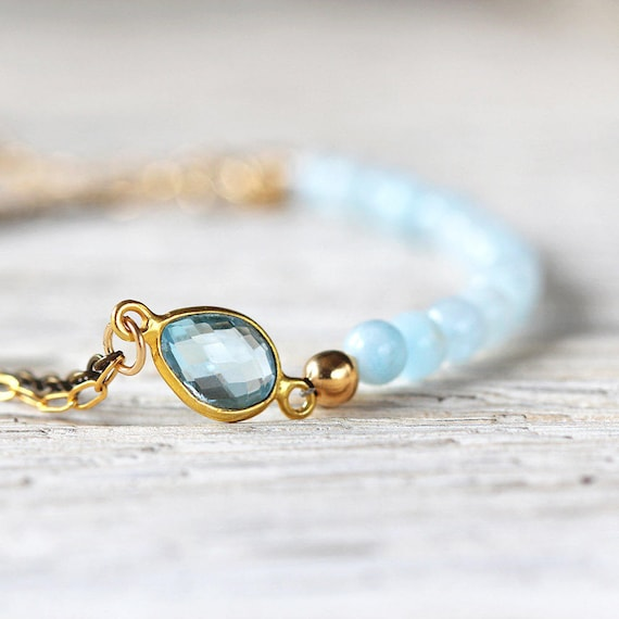 Blue Bridal Bracelet - Something Blue Bracelet