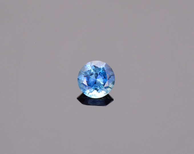 SALE EVENT! Blue Green Sapphire Gemstone from Montana, Round, 0.56 cts., 4.8 mm.