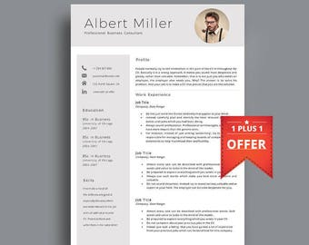 Resume Template, Professional Resume Template, Professional CV Template. Instant Download. Resume With Photo, Modern Resume. Creative.