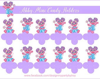 24 ABBY CADABBY Mini Candy Holders, Abby Cadabby Party Decor, Abby Cadabby Favors, Abby Cadabby Boxes, Sesame Street, Abba Cadabby Party.