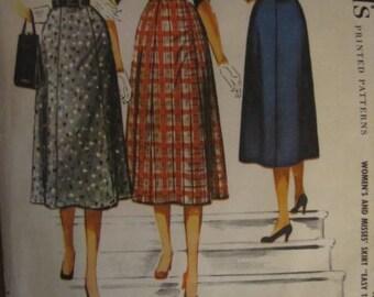 Vintage McCall's Pattern 3770 Women's Skirt Pattern Waist 32