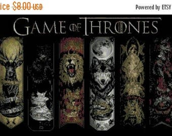 Six arms pattern Game of Thrones Cross Stitch Pattern Thrones pattern korss - 441 x 220 stitches  - Instant Download - B1025