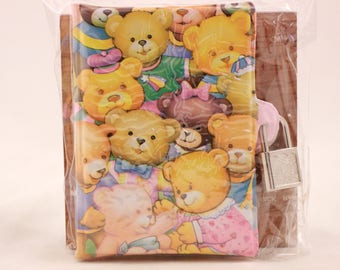 New! Vintage Kids Bear Journal with Lock and 2 Keys in Package. Sealed
