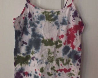 Tie dye tank top womens