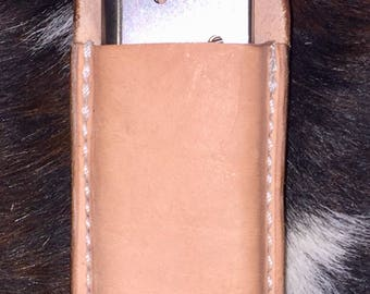 Natural leather 1911 .45ACP mag pouch w belt loop