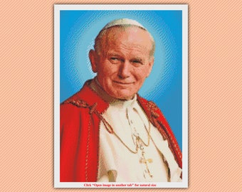 Pope John Paul II  Cross Stitch Pattern - Instant Dpwnload
