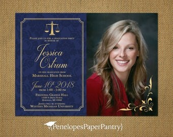 law school photo announcementgraduation partyparty invitationphoto invitationjuris doctorate - Law School Graduation Invitations