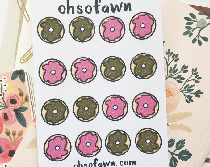 Hand Drawn Donut Stickers