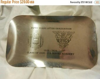 Summer Sale Original US Navy Acadmey Class of 1926 Fifty Years Tray