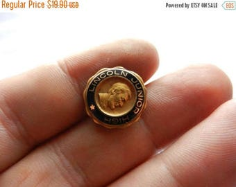 Easter Sale Vintage Gold Filled Lincoln Junior High School Class Pin