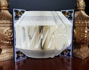 MIZZOU Folded Book Art University Of Missouri Home Decor Tigers NCAA