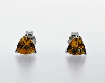 925 Sterling Silver Citrine Earring