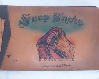 Vintage Photo Album - Sequoia National Park Photo Album - Leather Photo Album - Blank Photo Album