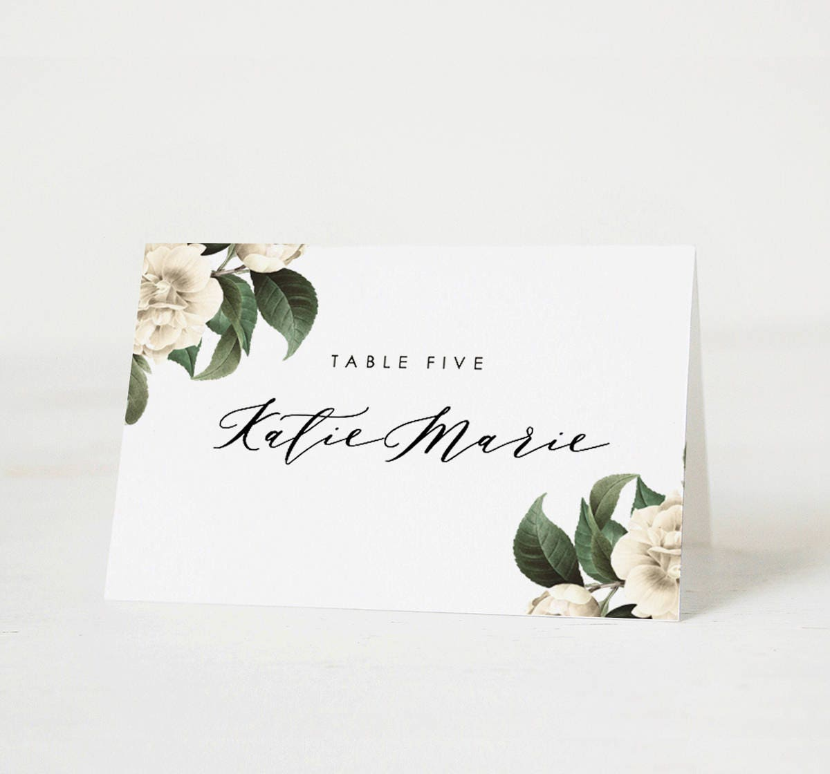 It's just a picture of Intrepid Printable Place Cards Template