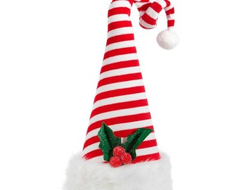 "Raz Imports 15.5"" Santa Hat Tree Topper/Wreath Supplies/Christmas Decoration/3716397"