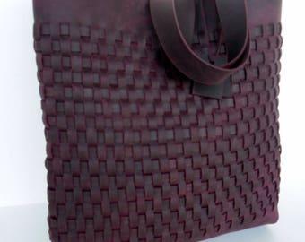 Brown Leather Tote Bag - Leather Bag - Men Cognac Leather Bag,Cognac Brown  Leather Tote