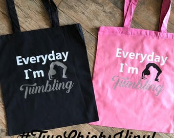 Cheer//Tumbling//AllStar Cheer//Everyday Im Tumbling Tote