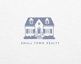 Pre Made Logo // Illustrated and Custom Logo Design // Hand Drawn Branding //  Real Estate Logo