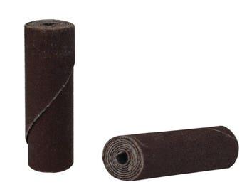 "25/Pk 1-1/2"" x 1/2"" Fine 180 Grit Aluminum Oxide Cartridge Rolls Jewelry Making Metal Polishing Abrasives - 11.01273"
