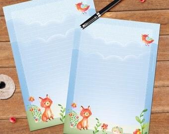 Joyful fox - A5 size - 12 sheets