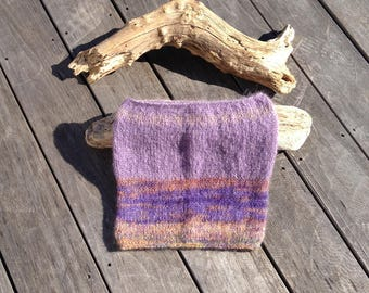 snood mohair and Parma violet