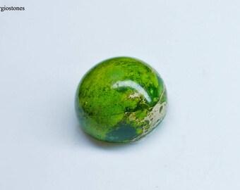 11 mm Round Apple Green Jasper Cabochon