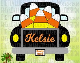 Truck SVG ~ Candy Corn SVG ~ Vintage Truck svg ~ Halloween ~ Kids svg ~ Halloween svg ~ Commercial Use SVG ~ Clipart ~ Cut File ~eps dxf png