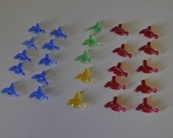 25  Bird Ceramic Christmas Tree Bulbs