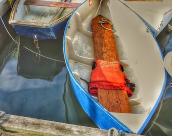 Photograph of Old Dinghy in Pepperall Cove, Kittery, Maine