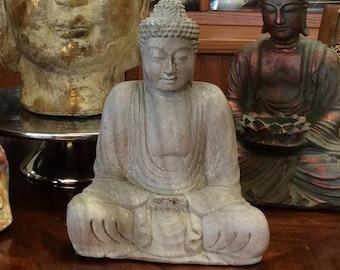 Gray Wooden Buddha