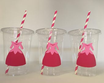 Sleeping Beauty party cups, Aurora party cups, Sleeping Beauty Birthday Party Cups
